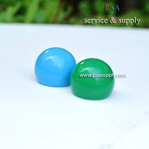ฝาบอลกลมสีเขียวและสีฟ้า1