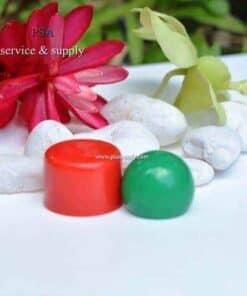 ฝาบอลกลมสีเขียวและฝาทรงกระบอกสีแดง1