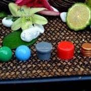 pdp068-ฝาเห็ดสีเทา,ฝาทองแดงและฝาทรงกระบอกสีแดงและฝาบอลกลมสีเขียว,ฝาบอลกลมสีฟ้า