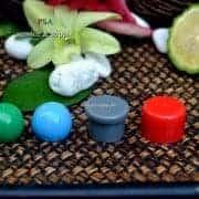 pdp068-ฝาเห็ดสีเทา,และฝาทรงกระบอกสีแดงและฝาบอลกลมสีเขียว,ฝาบอลกลมสีฟ้า2