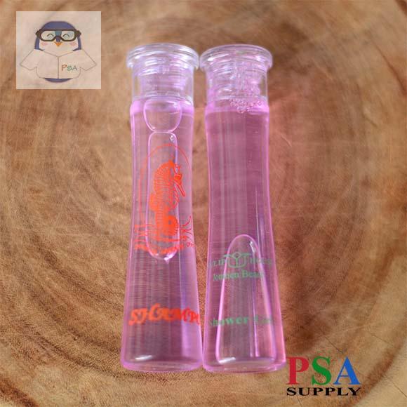 แชมพูสีชมพูมุก ขนาด 30ML ขวดใสทรงเหลี่ยม (1)