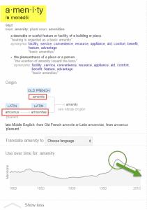 รากศัพท์ amenity จากภาษา Latin