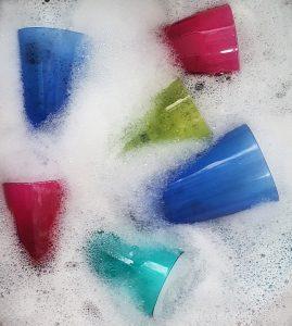 ล้างแก้ว ได้ง่าย ไม่ทิ้งกลิ่น
